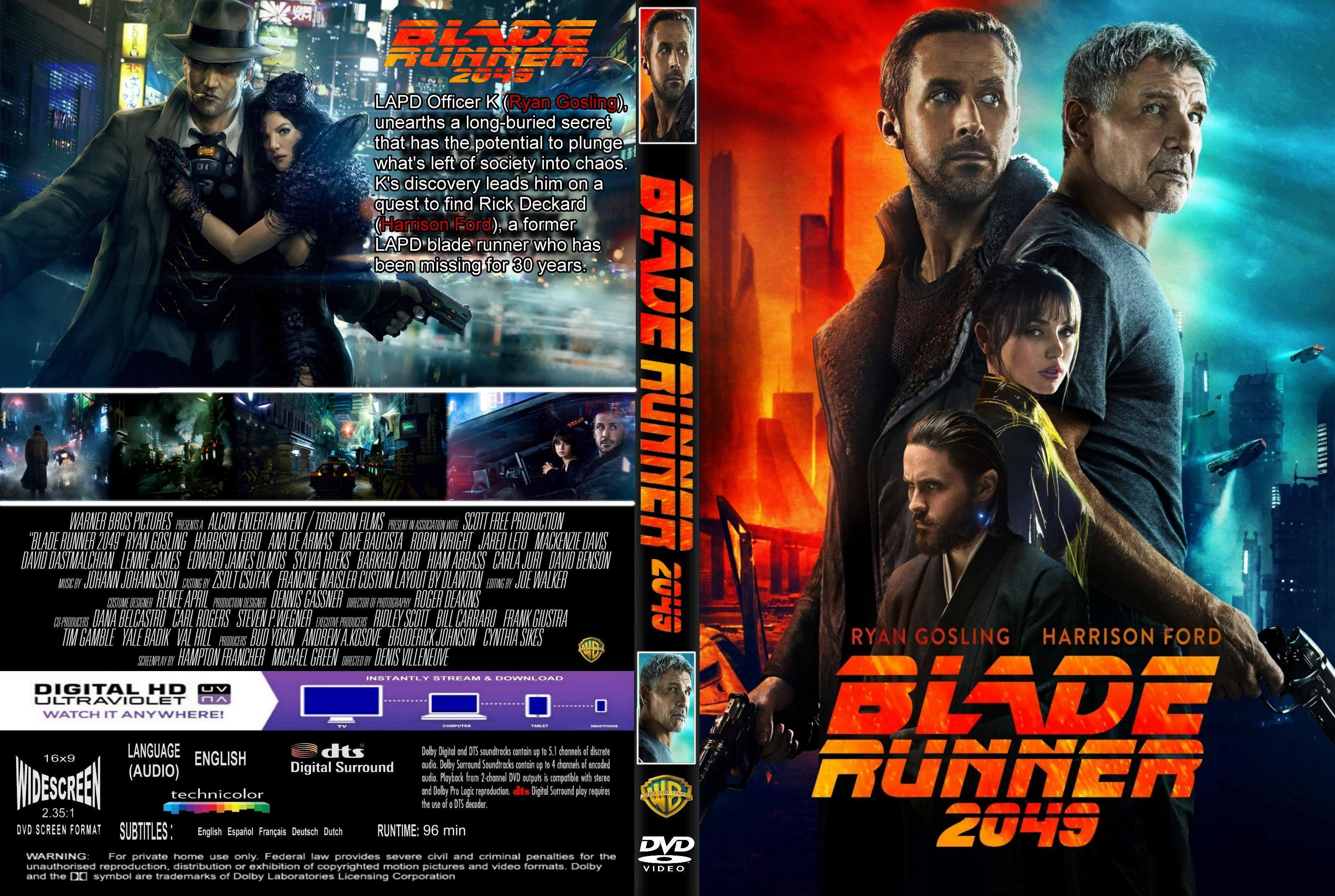 Blade Runner 2049 Dvd Cover Cover Addict Free Dvd And
