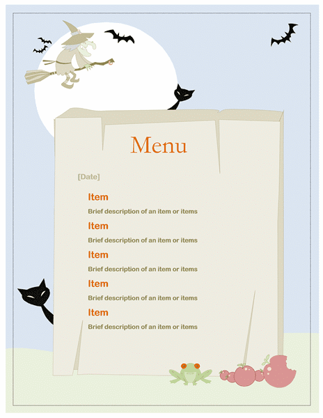 Childrens weekly menu planner search results calendar 2015 for Party menu planner template