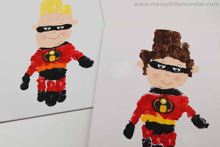 superhero activity craft for kids - The incredibles 2 movie activity