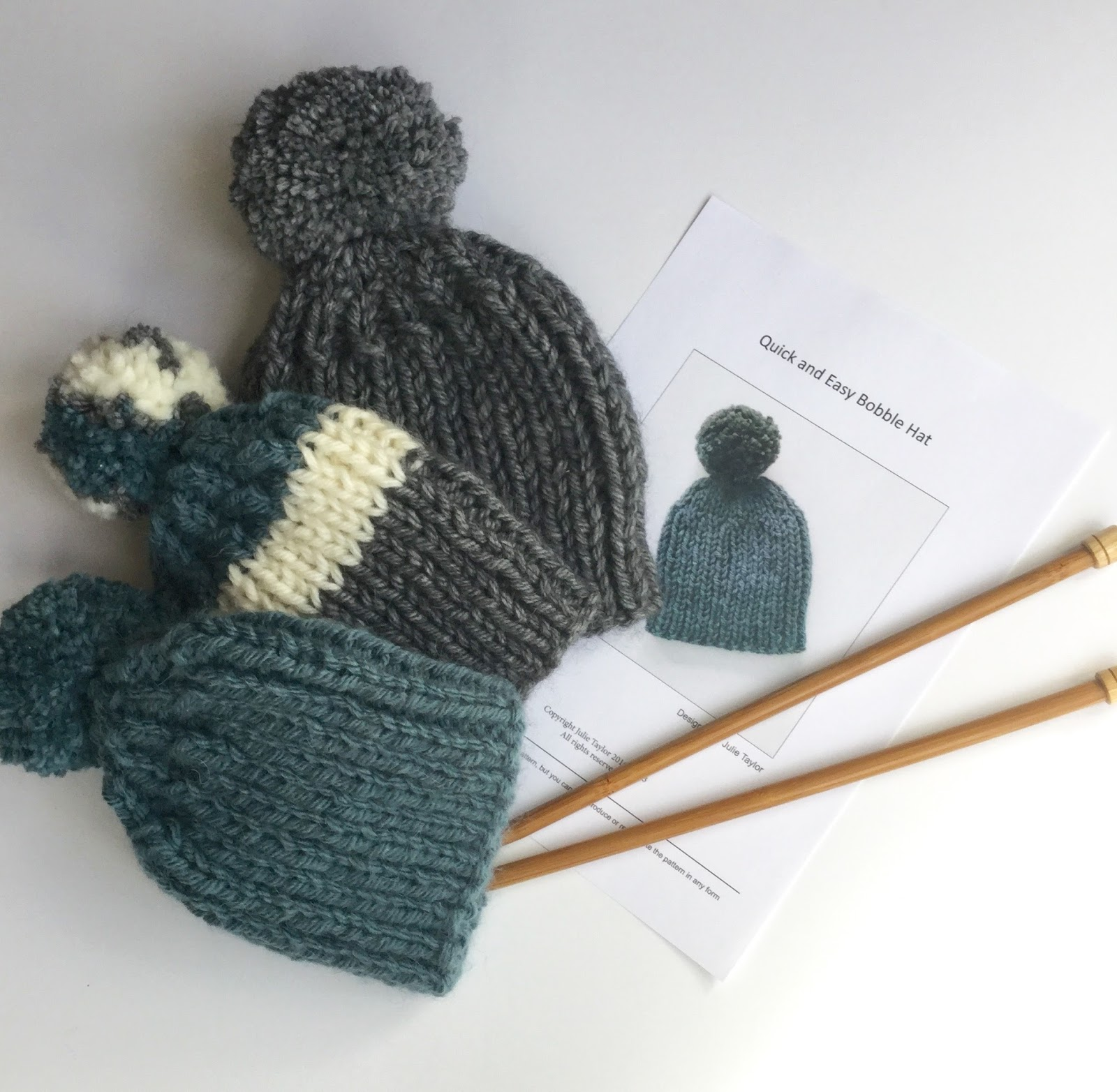 Mack and Mabel: Quick and Easy Bobble Hat - A Free Pattern