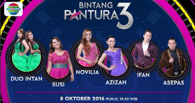 Peserta Bintang Pantura 3 yang Turun Panggung Tgl 08 Oktober 2016