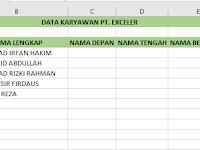 Cara Praktis Mengambil Sebagian Karakter Di Excel Dengan Rumus Fungsi Left-Mid-Right