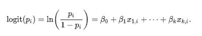 Figura 1: Fórmula de la función logits.