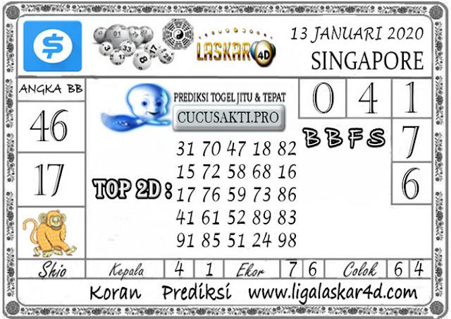 Prediksi Togel SINGAPORE LASKAR4D 13 JANUARI 2020