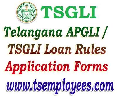 Telangana APGLI loan application form download tsgli loan application form