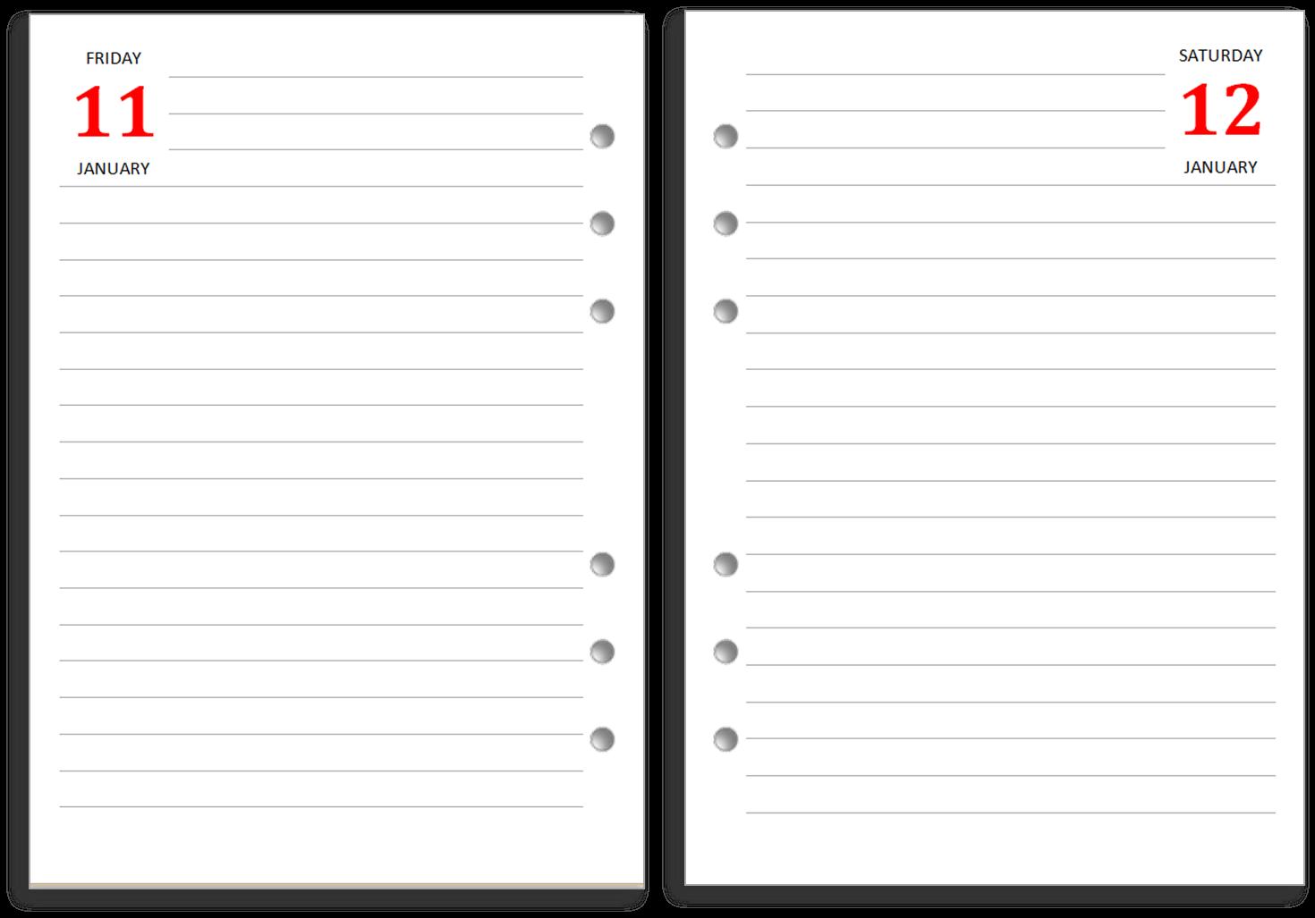 Philofaxy New Filofax A5 Diary Layout For Free Download