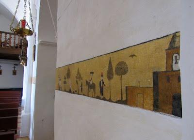 Frescos de la iglesia de Sant Miquel en Eivissa. Ibiza