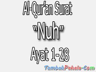 Bacaan Surat Nuh, Al-Qur'an Surat Nuh, terjemahan Surat Nuh, arti Surat Nuh, Latin Surat Nuh, Arab Surat Nuh, Surat Nuh