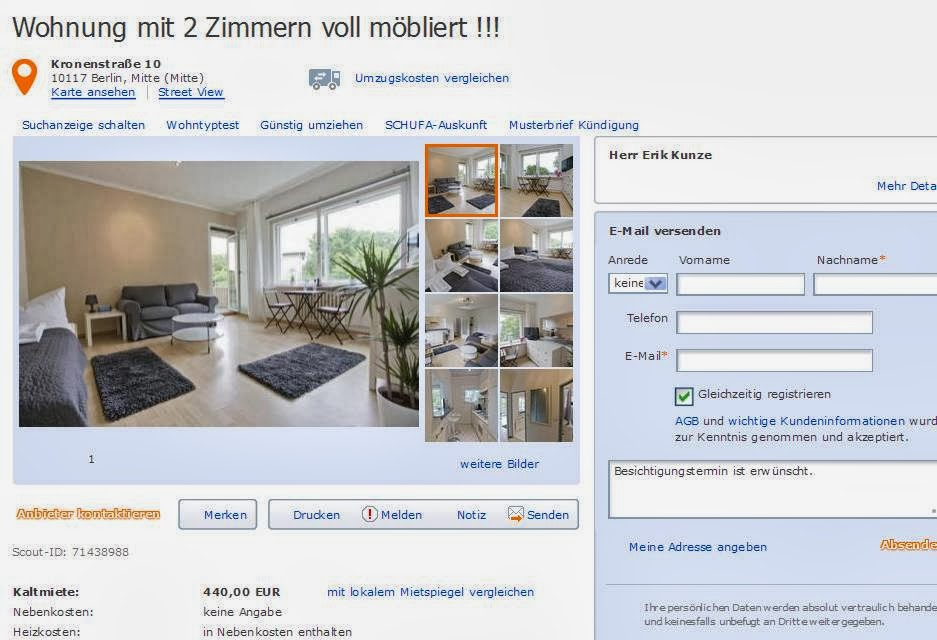 wohnungsbetrugblogspotcom erikkunzehotmailcom alias Herr Erik Kunze  Vorkassebetrug fraud