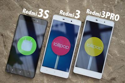 Xiaomi Redmi 3, Redmi 3 Pro dan Redmi 3S Prime