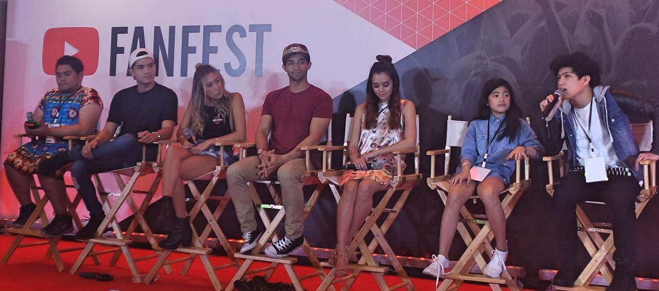 YouTubers Lloyd Cafe Cadena, Alex Wassabi, LourDIY, Wil Dasovich, Megan Nicole, Niana Guerrero and Ranz Kyle.