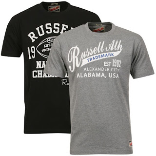 Russell Athletic Men's 2-Pack Hawley & Wyles T-Shirt - Black/Grey