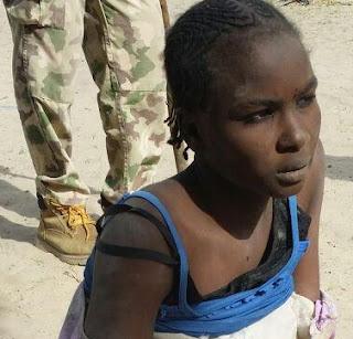 female boko haram suicide bomber surrenders