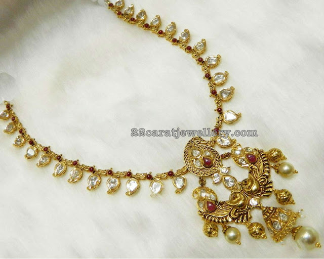 Simple Polki Pachi Necklace