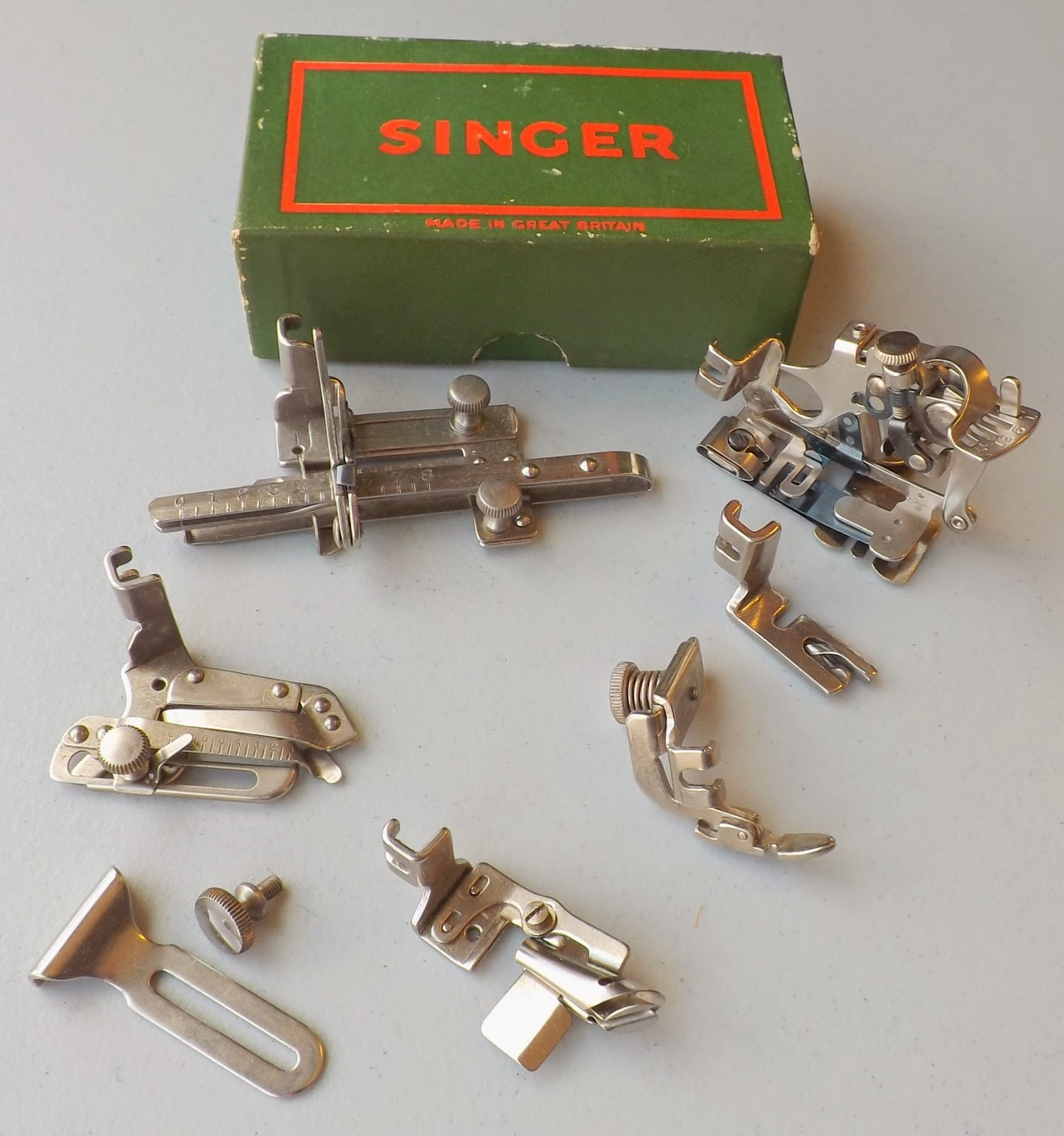 Antique New Home Sewing Machine Attachments