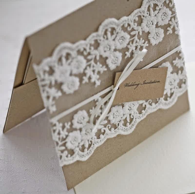 Rustic Wedding Invitation Ideas: Burlap And Lace Wedding Invitation Ideas