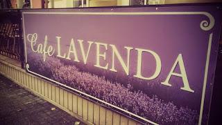 Szyld Cafe Lavenda