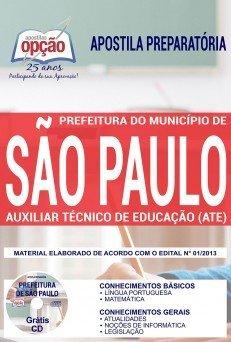 Apostila da Prefeitura de São Paulo - Auxiliar Técnico de Educação 2018