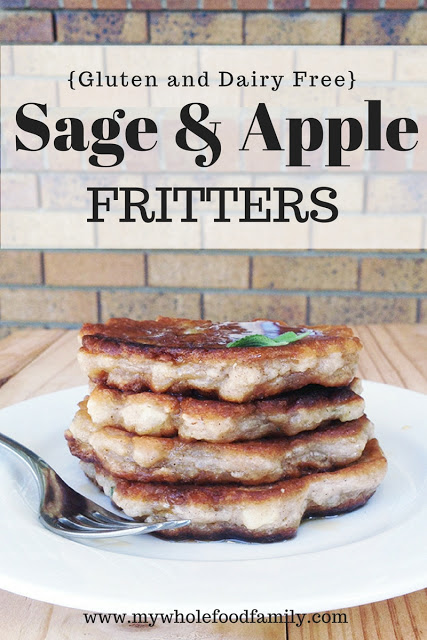 Most Popular Recipe of the Week // Sage and Apple Fritters from My Wholefood Family
