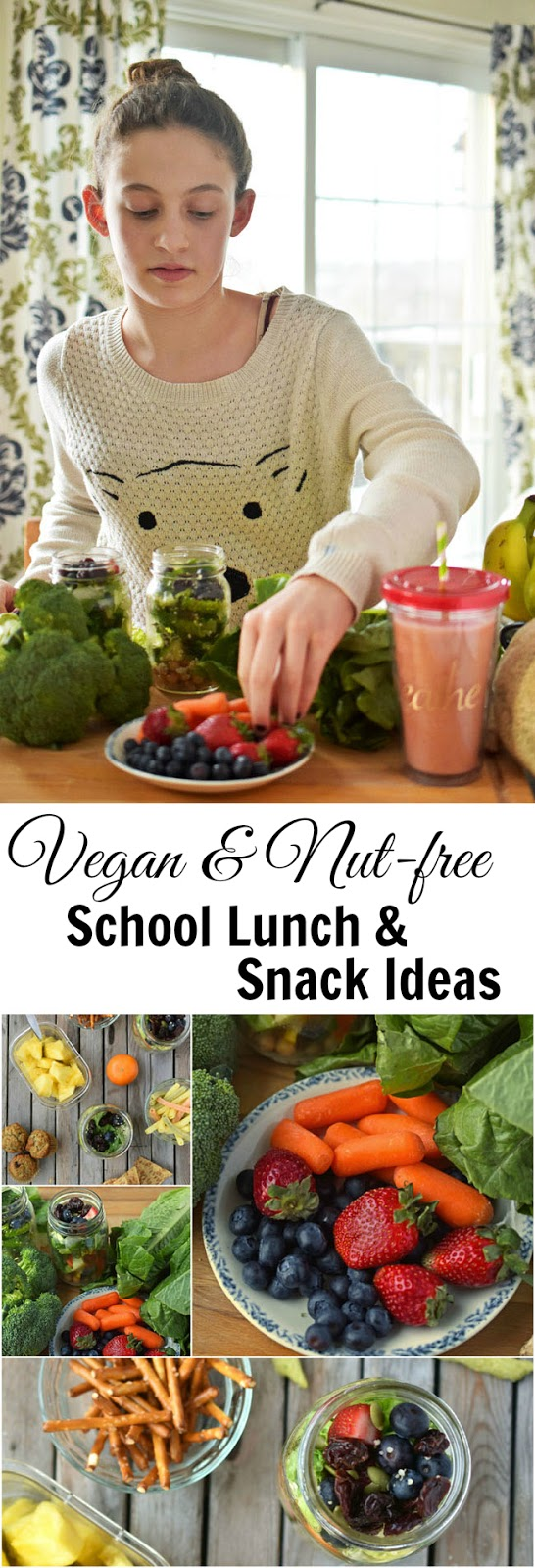 40+ ideas for vegan and nut-free school lunches and snacks - great for work too!