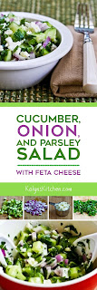 Cucumber, Onion, and Parsley Salad with Feta Cheese found on KalynsKitchen.com
