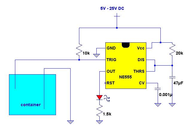 Water Level Indicator With Buzzer Circuit Using Transistor