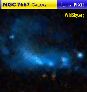 NGC 7667 galaxy in Pisces — WikiSky.org image