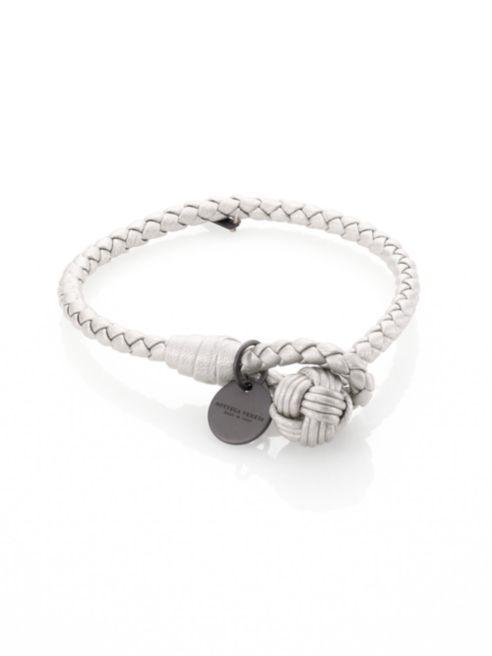 Bottega Veneta Intrecciato Leather Thin Wrap Bracelet 0401613117428.png