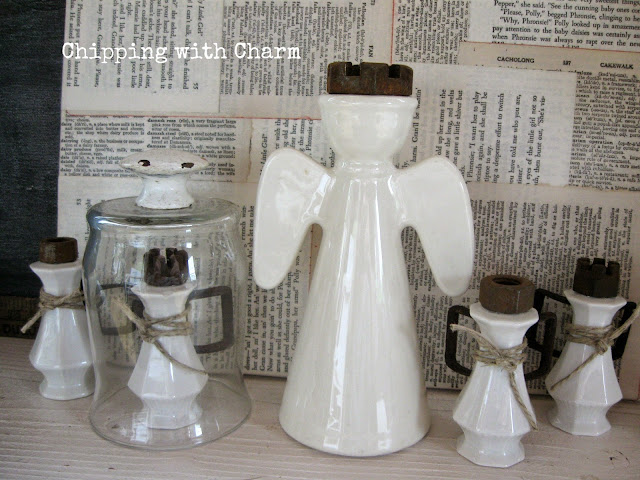 Chipping with Charm: Salt and Pepper Shaker Angel...www.chippingwithcharm.blogspot.com