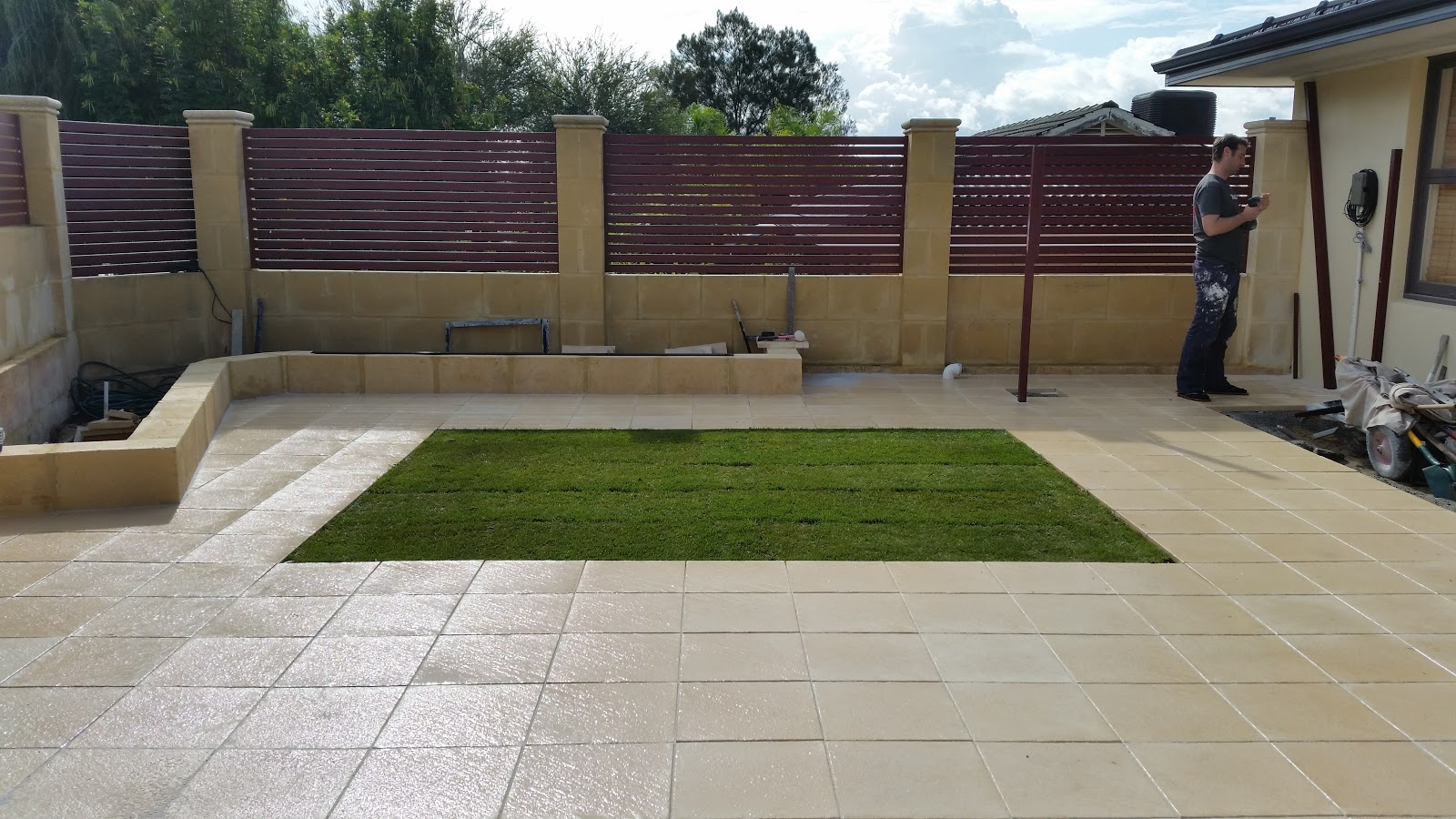 mr p also waterproofed the limestone fence when it was first built you can read more about that here