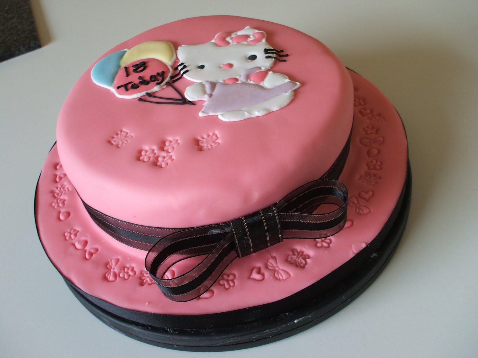 Wondrous Cake With Hello Kitty Design The Cake Boutique Birthday Cards Printable Benkemecafe Filternl