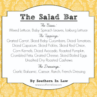 Healthy Party Menu - Salad Bar Menu