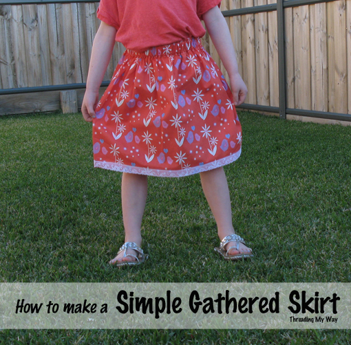 Simple Gathered Skirt Tutorial... an easy project if you are new to sewing ~ Threading My Way