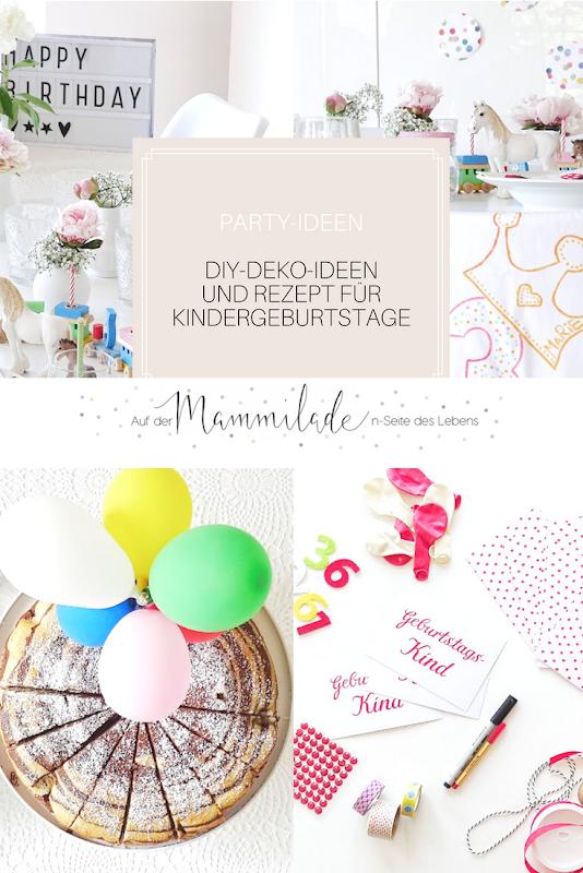 Deko-Ideen und Rezepte für Geburtstage | Impressionen eines 3. Geburtstages | 17 + 5 DIY-Nachmach-Ideen und Rezepte für den Juni und Juli | https://mammilade.blogspot.de