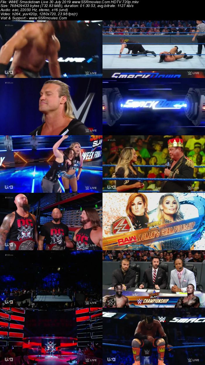 WWE Smackdown Live 30 July 2019 Full Show Download 480p 720p HDTV WEBRip