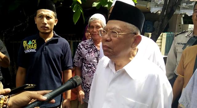 Ma'ruf Amin: Aksi 212 Politis, Saya Larang Umat Islam Ikut Itu