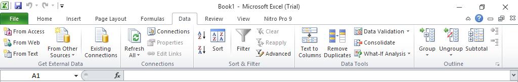 Menu Data Pada Microsoft Excel