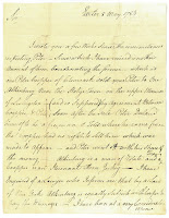 Letter; Blanchard to Bartlett; May 8, 1784; first page