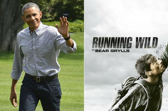"Barack Obama em ""Running Wild"" com Bear Grylls"