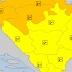 Izdato narandžasto upozorenje, očekuju se obilnije padavine