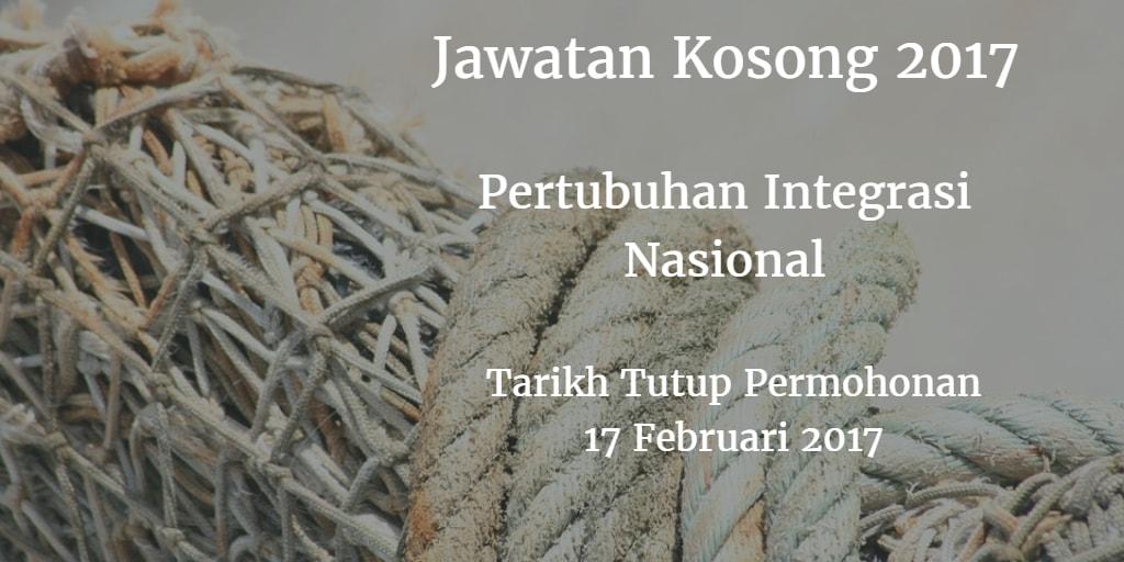 Jawatan Kosong Pertubuhan Integrasi Nasional 18 Februari 2017