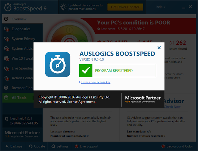 Auslogics BoostSpeed Premium Serial Key Crack
