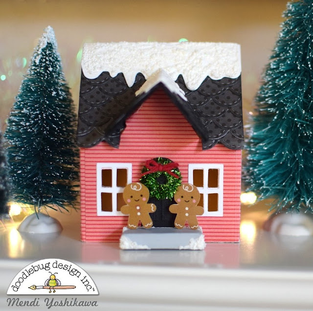 Doodlebug Design: Christmas Village Houses by Mendi Yoshikawa (using Sizzix Dies & Patterned Papers from various Doodlebug collections).