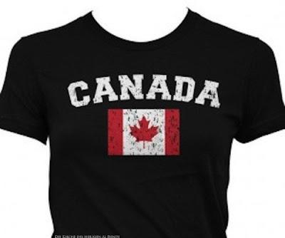 Kanada T-Shirt mit Ahorn Flagge