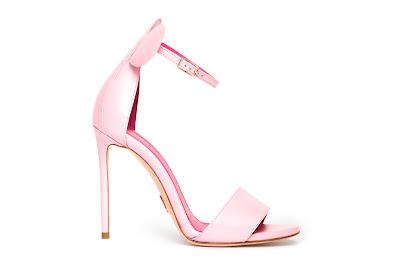 Oscar Tiye Spring Summer 2016 Minnie Sandal Baby Pink