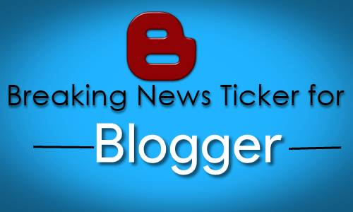 Stylish Breaking News ticker For blog website.
