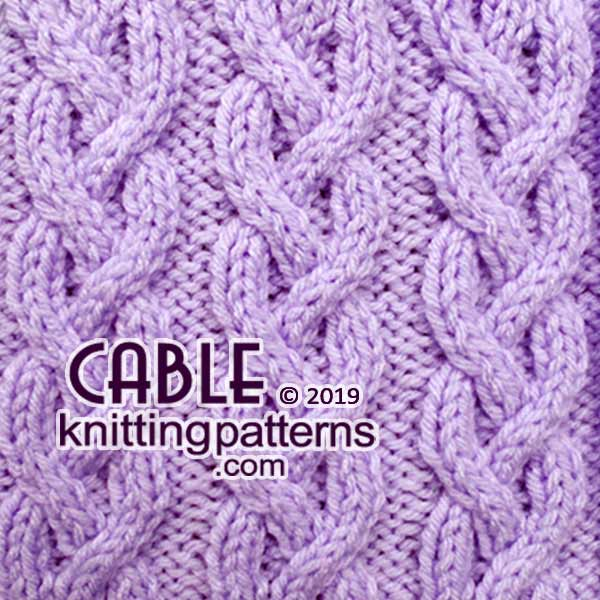 Knitted fabric with cable pattern #cableknitting