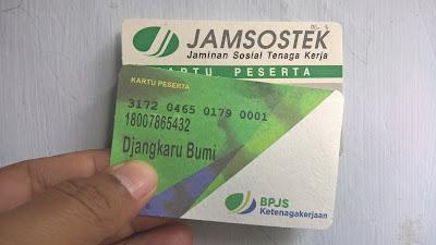 Letak Nomor KPJ Pada Kartu Peserta Jamsostek atau BPJS Ketenagakerjaan