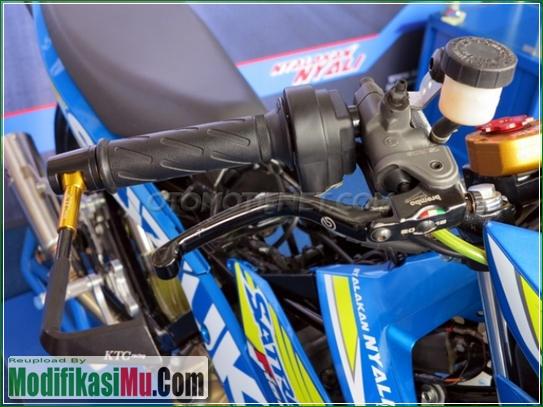 Master Rem Brembo RCS - Video Cara Modifikasi All New Suzuki Satria F150 FI Sporty Untuk Balapan Terbaru Sederhana Tapi Keren