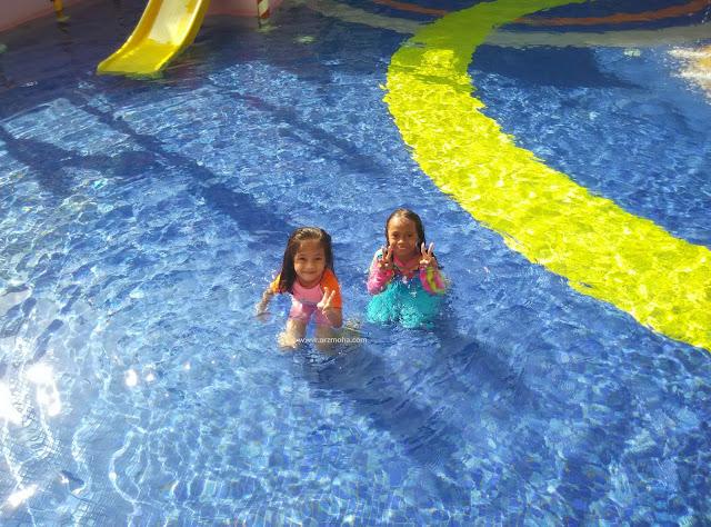 Spice Aquatic centre, children water splash pool SPICE, kolam kanak-kanak SPICE, apa yang menarik di SPice Aquatic Centre, mandi manda di penang, kolam renang penang, cik puteri, anak blogger malaysia,